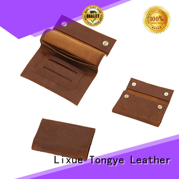 case leather business bags vintage for credit card LITONG