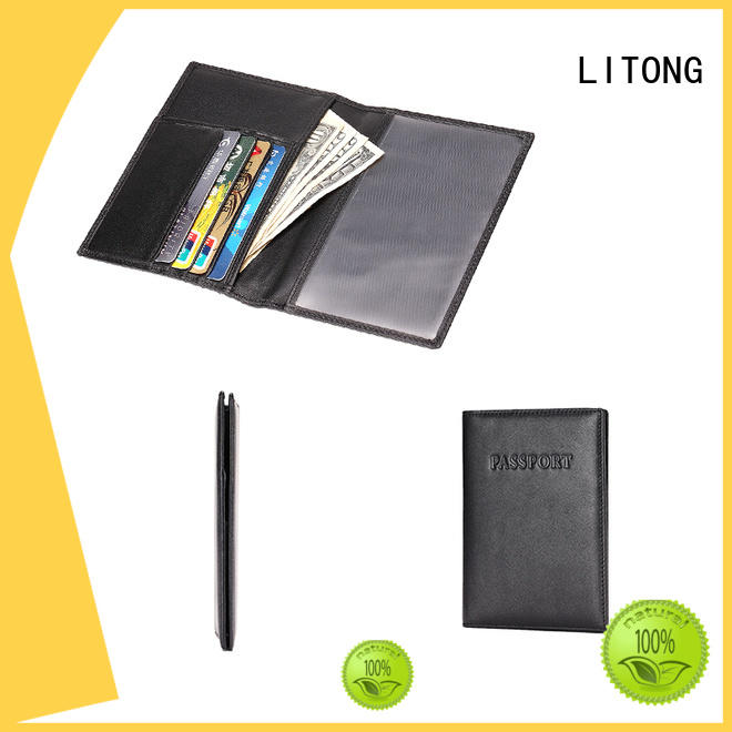 LITONG widely used leather passport case factory price for credit cards