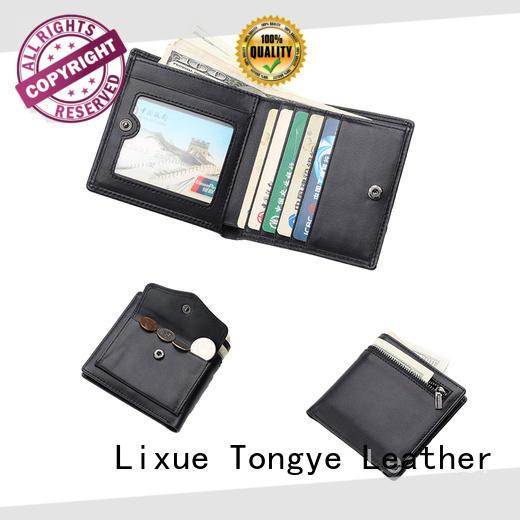 luxucy minimalist leather wallet ltbmw065 supplier for credit card