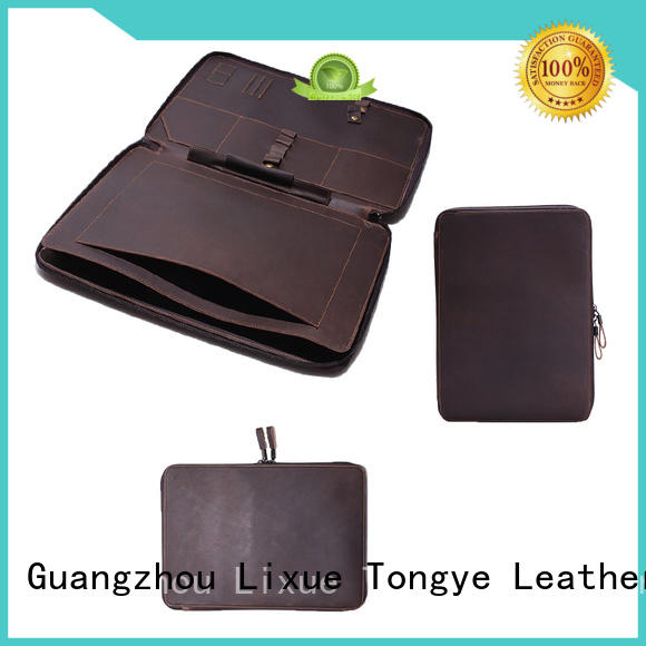 LITONG fashion design leather laptop bags for men marketing for ticket
