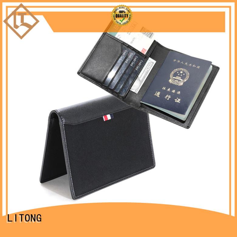 luxury custom leather passport holder holder funtionable for shopping cards